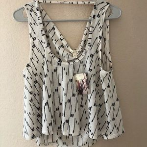 New tags silence + noise crop tank top Sz xS